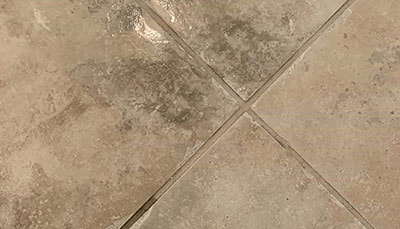 tile and grout close-up after cleaning