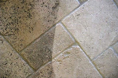 difference in tile grout before and after professional cleaning