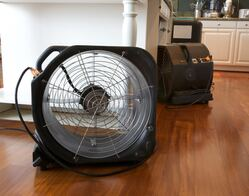 picture of fan to dry out floor